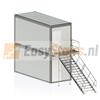 Containertrap Staal2.8 - 125 cm